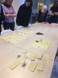 Kollaborativ design handler om å involvere deltakere i diskusjonen. Her fra workshop hos Nordisk kulturpunkt.