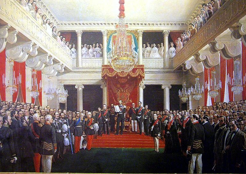 Kejsar Alexander II öppnar ståndslantdagen i Helsingfors 1863. Den första kommunallagen trädde i kraft två år senare. Målning av R.W. Ekman. Foto: Nationalmuseum