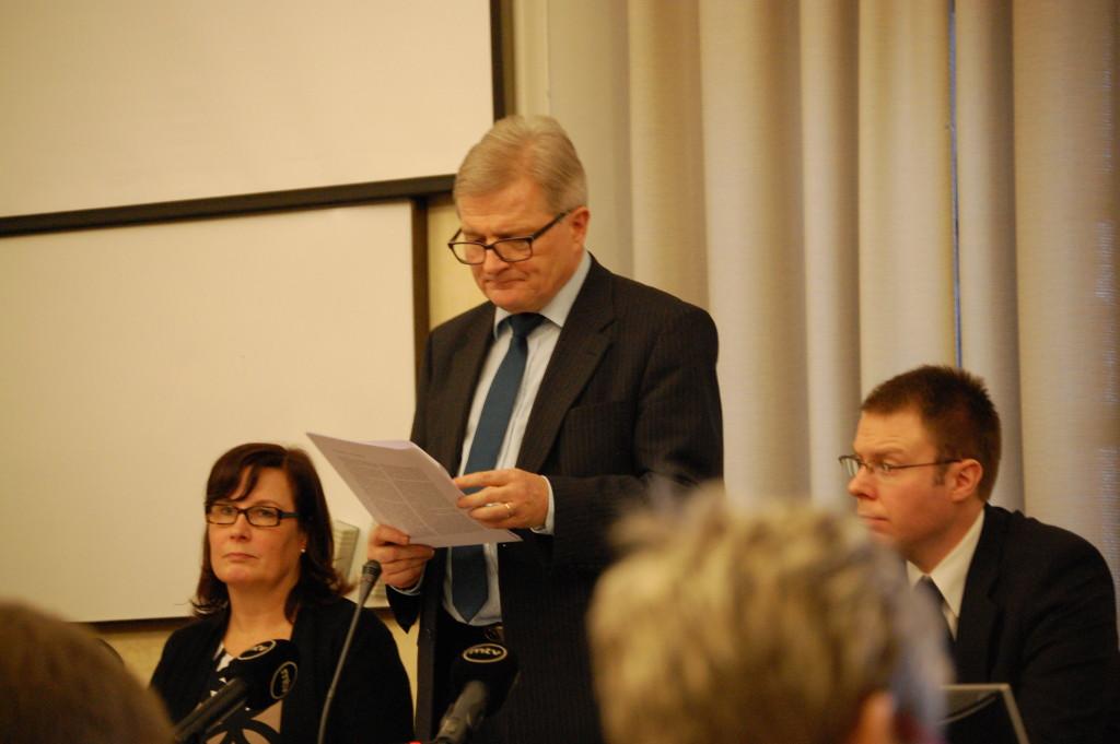 Grundlagsutskottets ordförande Johannes Koskinen (SDP). Foto: Jonas Ström