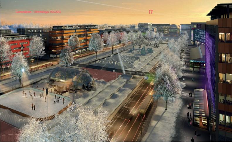 Bild från arbetet med Helsingfors generalplan.