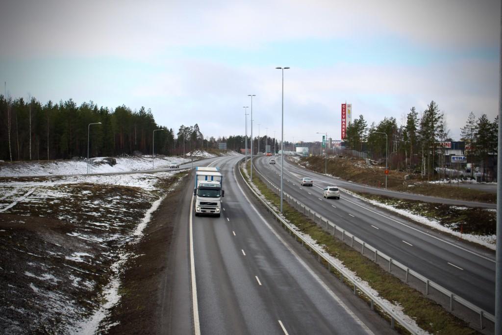 Omfartsvägen i Vasa och Korsholm. Foto: Patrick Stenbacka