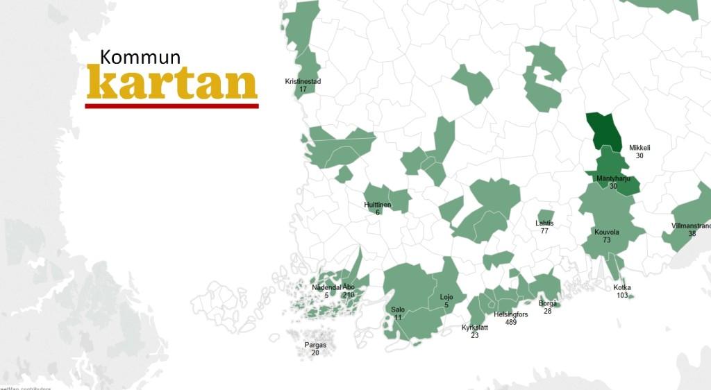 Kommuntorget har samlat uppgifter om flyktingarnas antal kommunvis i Kommunkartan längre ned på sidan.