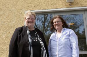 Förvaltningschef Carola Löf och kanslisekreterare Maria Peltomaa. Foto: Margareta Björklund