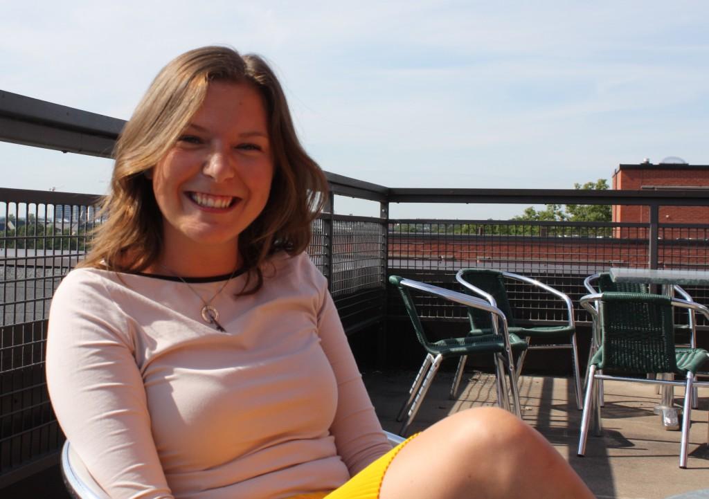 Kommunförbundets nya praktikant Linda Ekholm.