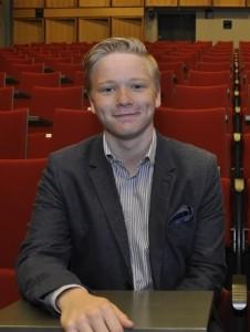 Linus Guseff, Kimitoöns Ungdomsparlamentsordförande. Foto: Privat