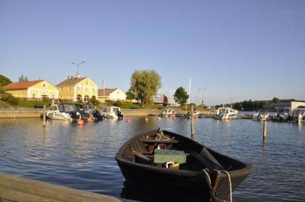 Bilden från Dalsbruks hamn i Kimitoöns kommun.