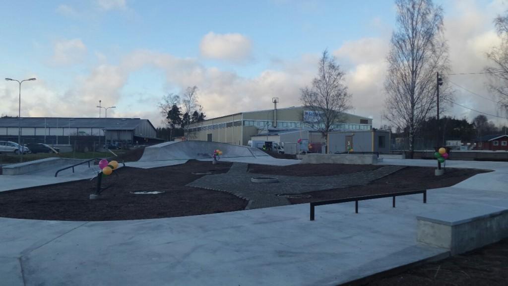 Den nya skejtparken i Raseborg har förverkligats uttryckligen på de ungas inititativ.