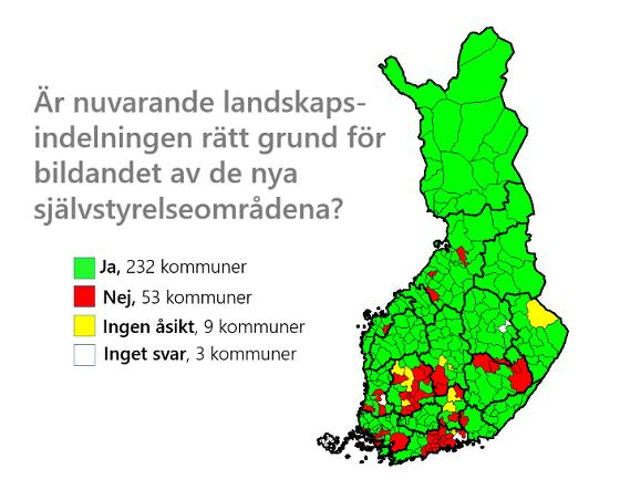 I de rödmarkerade områdena bor omkring hälften av invånarna i Finland.