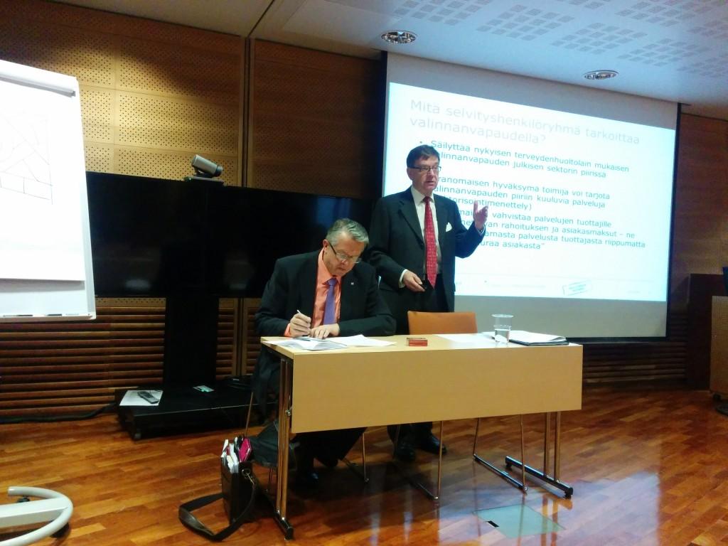 Mats Brommels presenterade förslagen om valfrihet