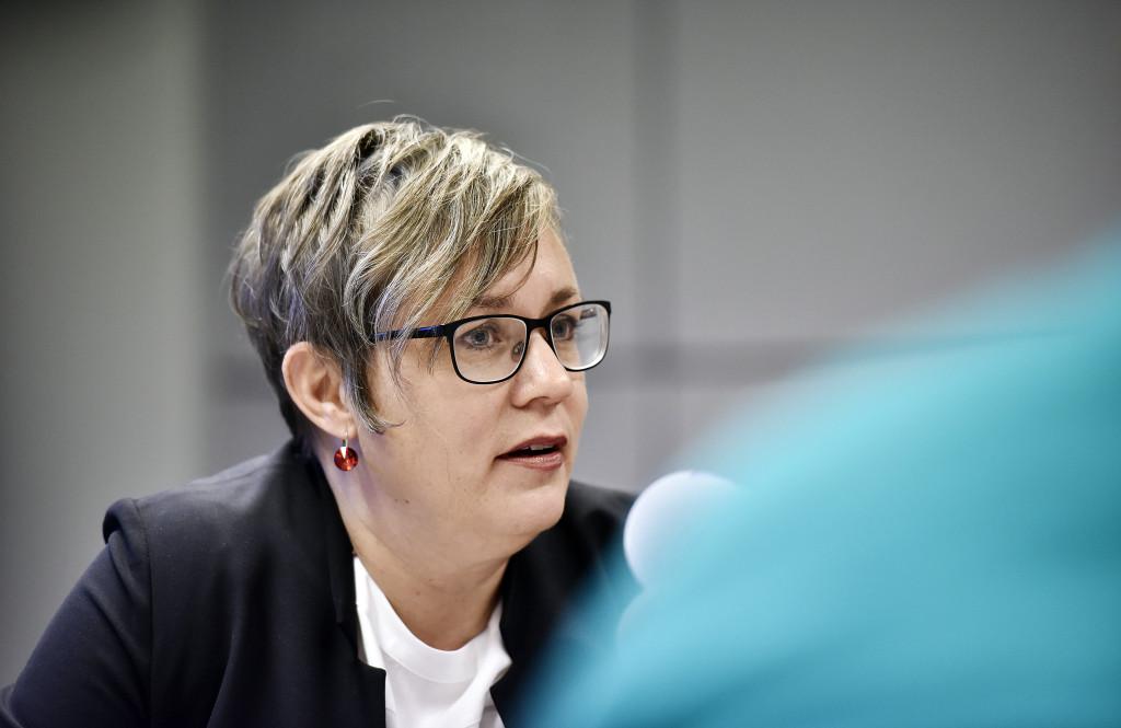 Kommunminister Nina Fellman. Foto: Jonas Edsvik