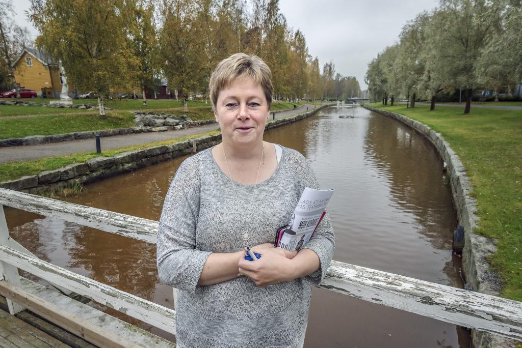 Stadsdirektör Stina Mattila i Karleby