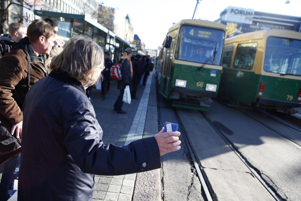 Bilden från Helsingfors spårvagnstrafik.