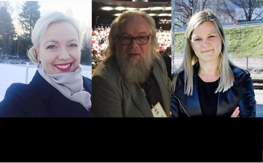 Johanna Holmäng, Veijo Lücke och Sandra Ahtola är alla nya på sina ordförandeposter. Här berättar de om sina erfarenheter efter ett drygt halvår.
