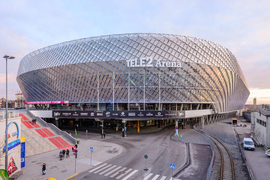 Tele2 arena ligger i Stockholm. och används bland annat för fotbollsmatcher. Foto: Wikimedia