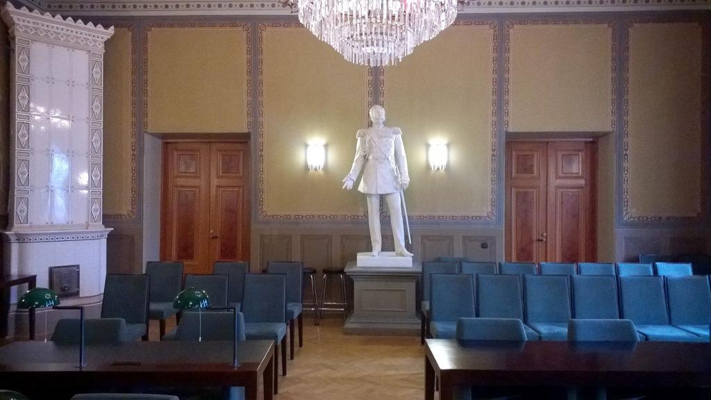 Fullmäktigesalen i Borgå. Foto: Sonja Eloranta.