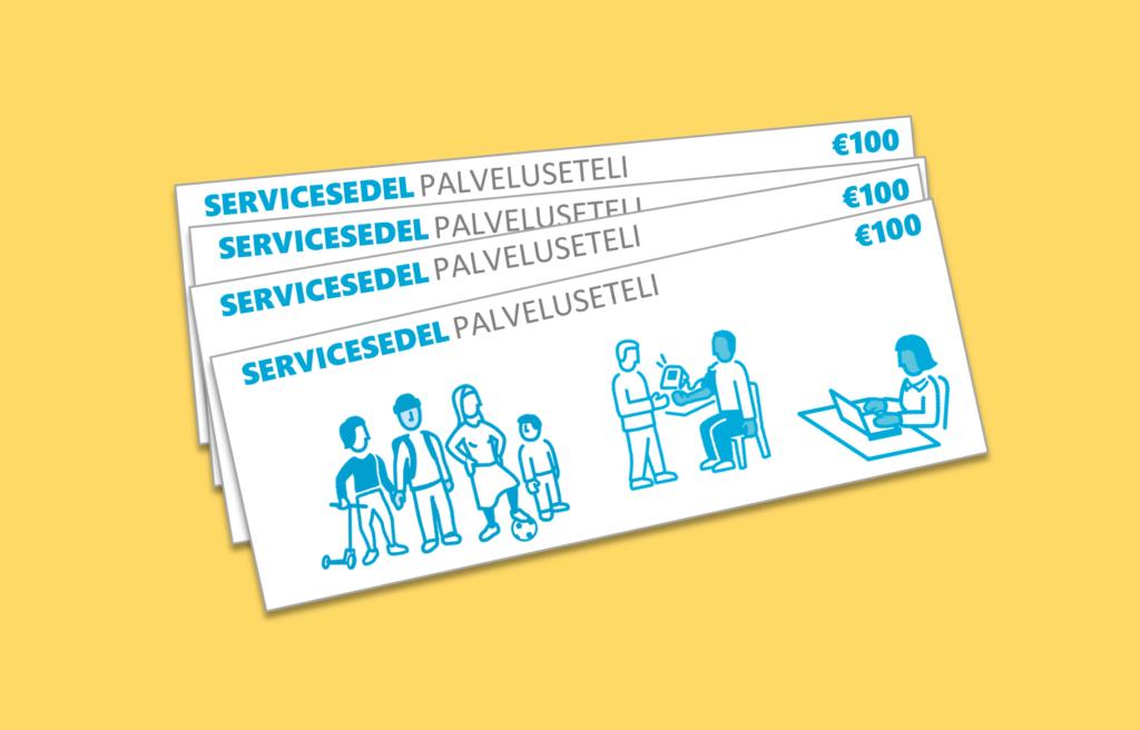 Valfrihet inom social- och hälsovårdstjänsterna har testats med hjälp av servicesedlar sedan 2017.