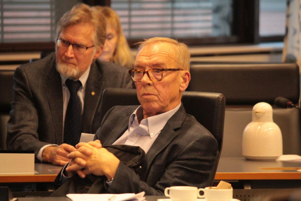 Finlands Svenska Kommunalförenings symposium var välbesökt. Kaj Björni i bild.