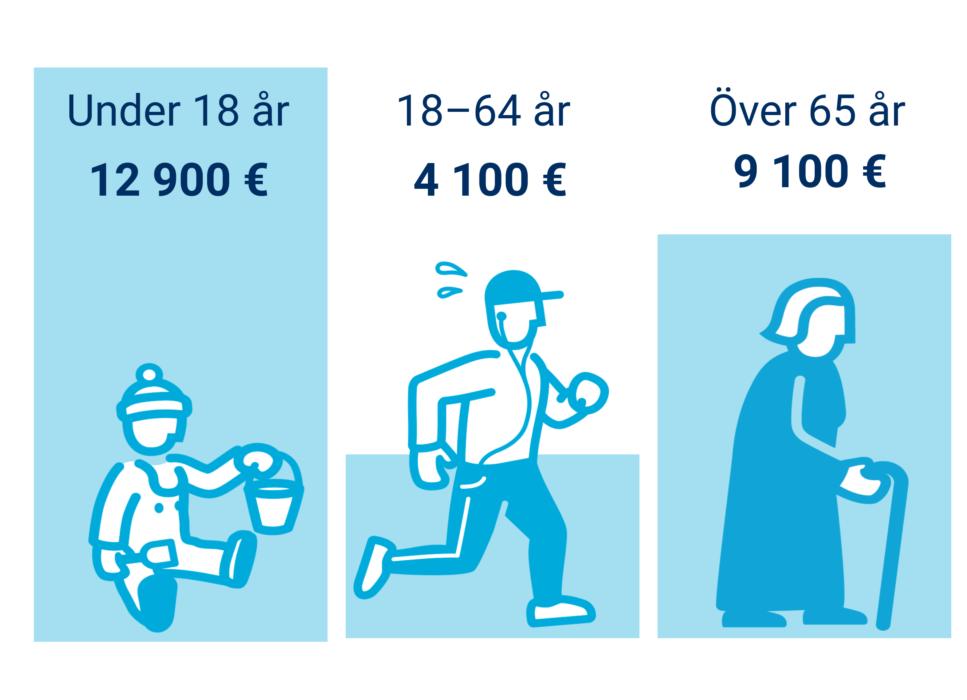 <strong>Skatteinkomster</strong>. Alla finländare använder service som finansieras med skatteinkomster.