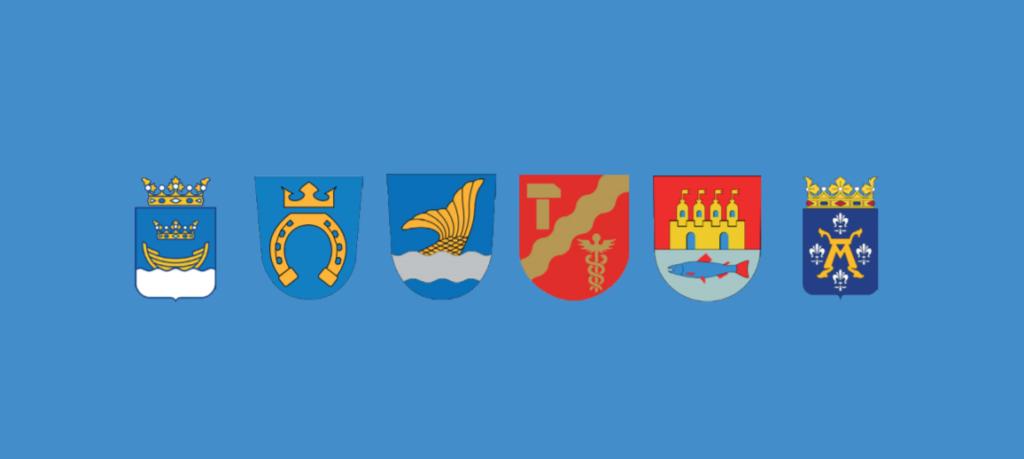 Helsingfors, Esbo, Uleåborg, Tammerfors, Åbo och Vanda utgör Finlands sex största städer.