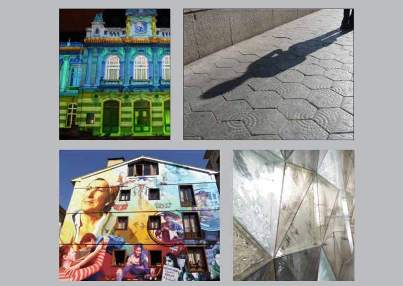 Fotografier med konstverk från Esbo stad