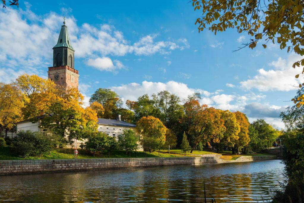 Åbo domkyrka vid Aura å.