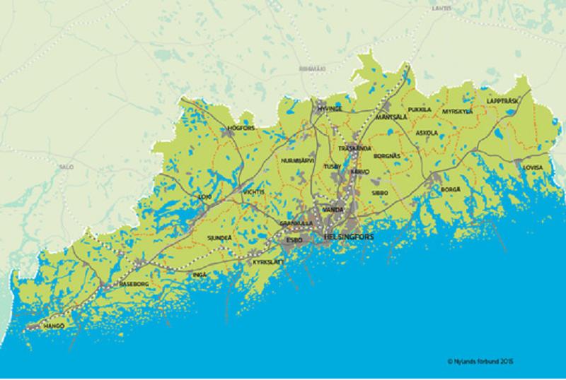 Nyland isoleras från övriga Finland.