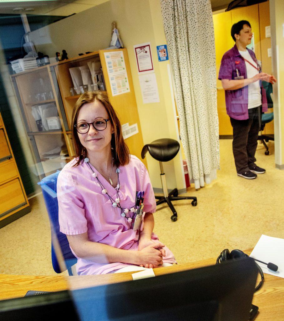 Pargas uppmanar sina kunder att övergå till e-faktura. Bilden är från hälsovårdscentralen.