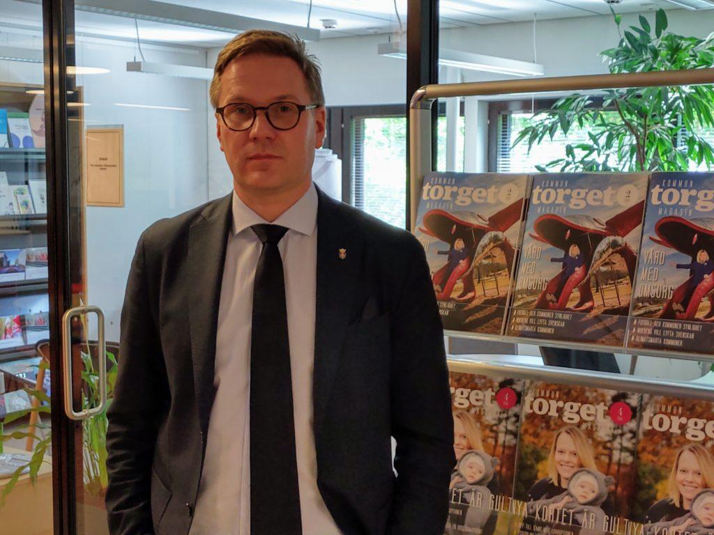 Nykarlebys stadsdirektör Mats Brandt.