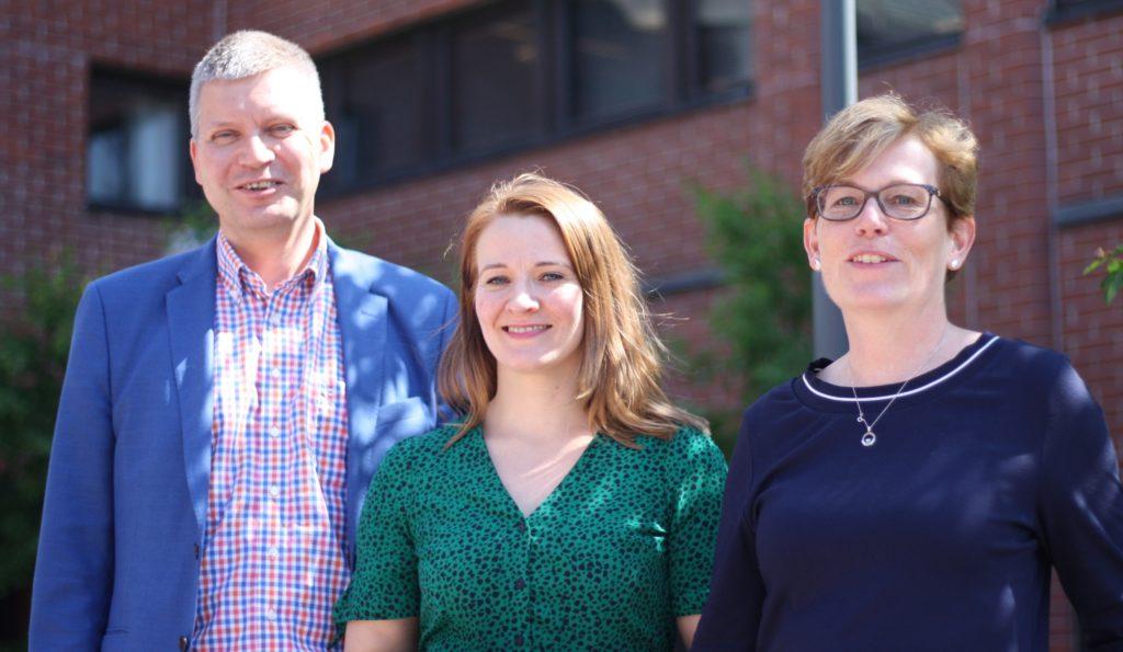 Bo Lönnqvist, Johanna Lindholm och Christina Gestrin presenterade resultatet för projektet Nyland 2019 på torsdagen i Kommunernas hus.