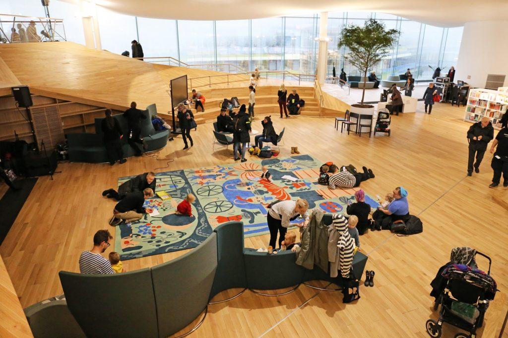 Biblioteket Ode har fått internationell uppmärksamhet. Foto: Risto Rimppi