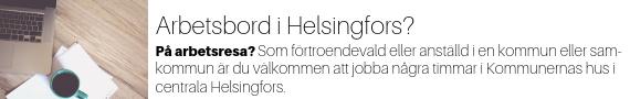 Banner: arbetsbord i Helsingfors!