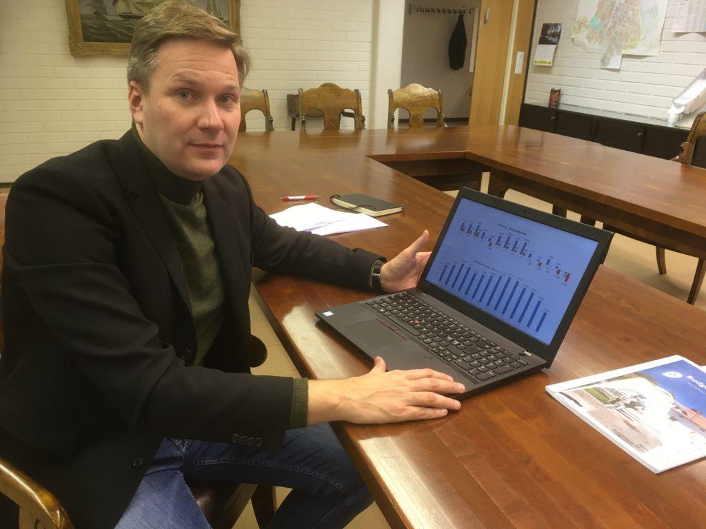 Mats Brandt, strategidirektör för Österbottens välfärdsområde och ännu i september stadsdirektör på deltid i Nykarleby, hör till dem som fortfarande är med i leken.