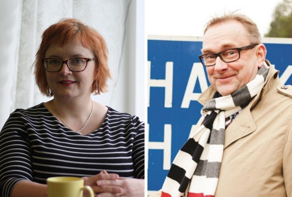 Tiina Heikka (Lappträsk) och Denis Strandell (Hangö) är båda aktiva på sociala medier i sin yrkesroll.