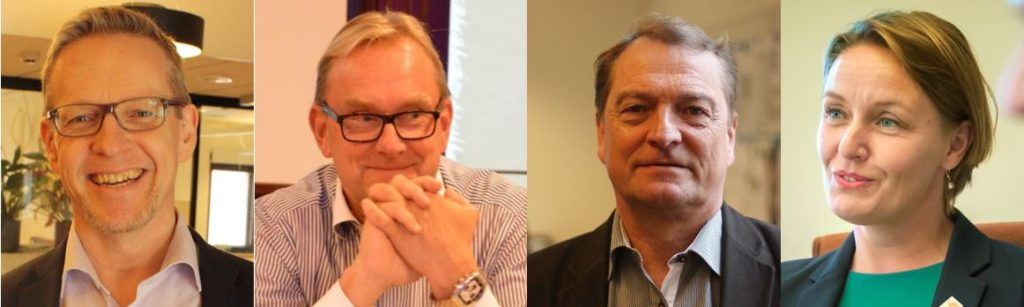 Patrik Nygrén, Dennis Strandell, Kaj Lindqvist och Mila Segrvall.