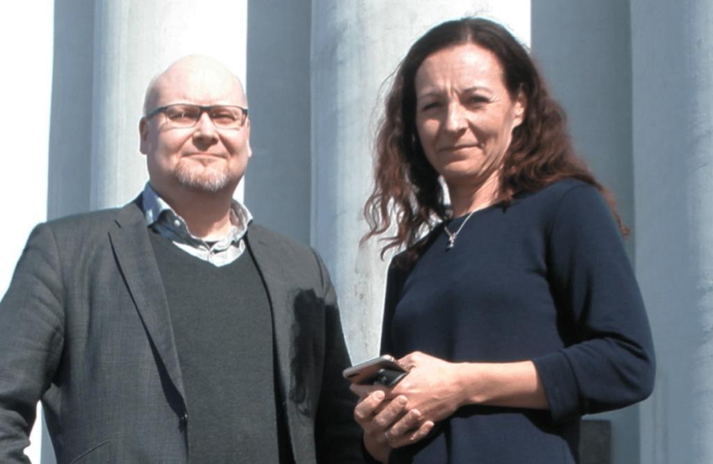 Peter Ehrström och Marina Lindell.