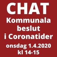 Banner: Corona-chat 1.4.2020