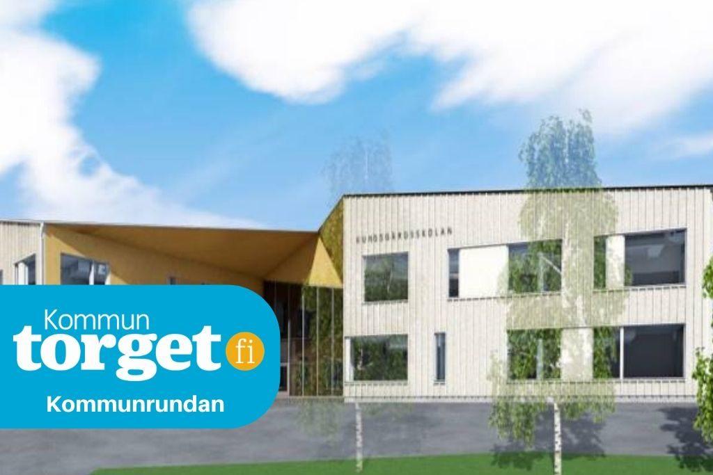 Så ska den nya skolan i Köklax se ut. Bild: Esbo stad