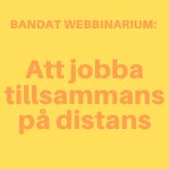 Banner: Videoutbildning: Att jobba tillsammans på distans