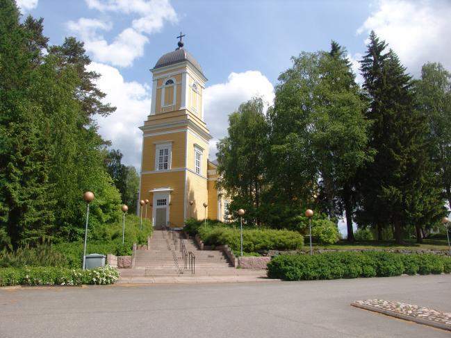 Kyrkan i Kankaanpää är planerad av Carl Ludvig Engel och togs i bruk 1839.