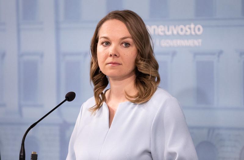 Finansminister Katri Kulmuni (C) avgår från ministerposten.