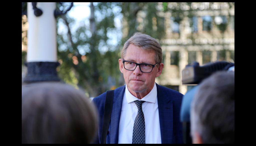Finansminister Matti Vanhanen presenterade förslaget till budget för 2021 i dag, onsdag.