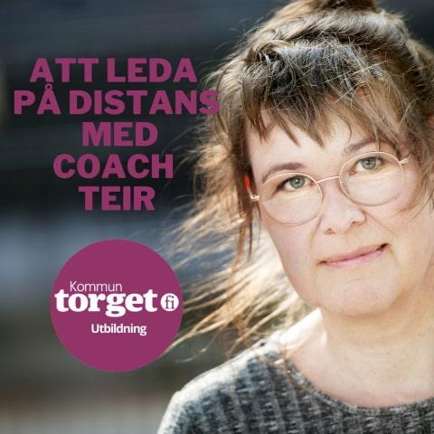 Banner: Att leda på distans med coach Teir