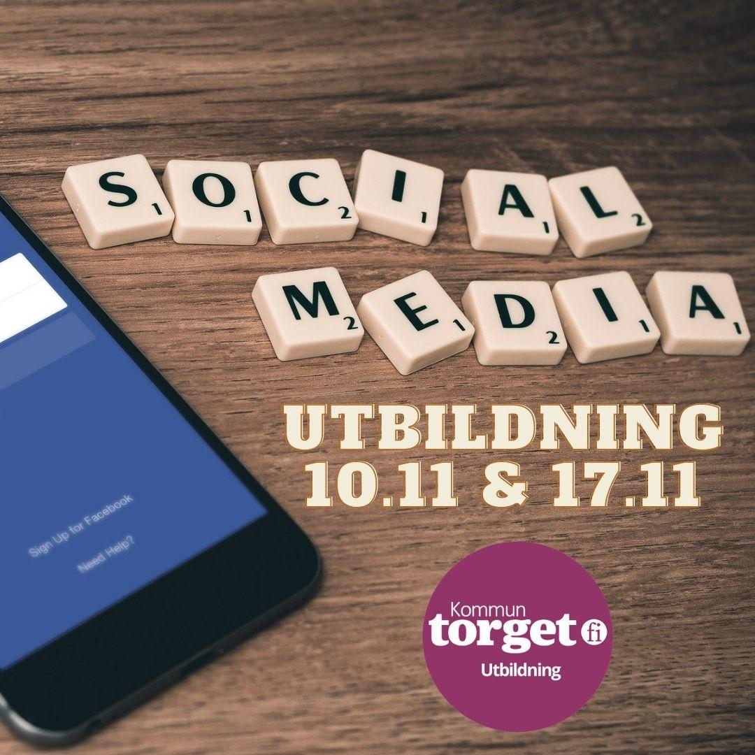 Banner: Social media utbildning