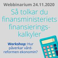 Webbinarium om finansministeriets finansieringskalkyler