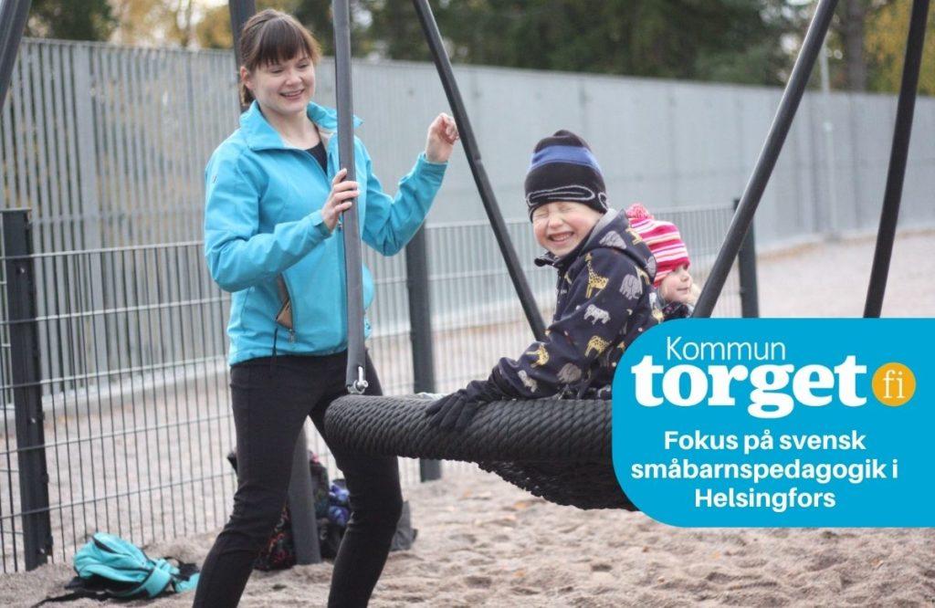 Robert och Silja går på Domus förskola och daghem på Brändö. Deras mamma Laura Kariranta är glad över barnens nuvarande dagissituation, men har också sett brister inom småbarnspedagogiken i Helsingfors.