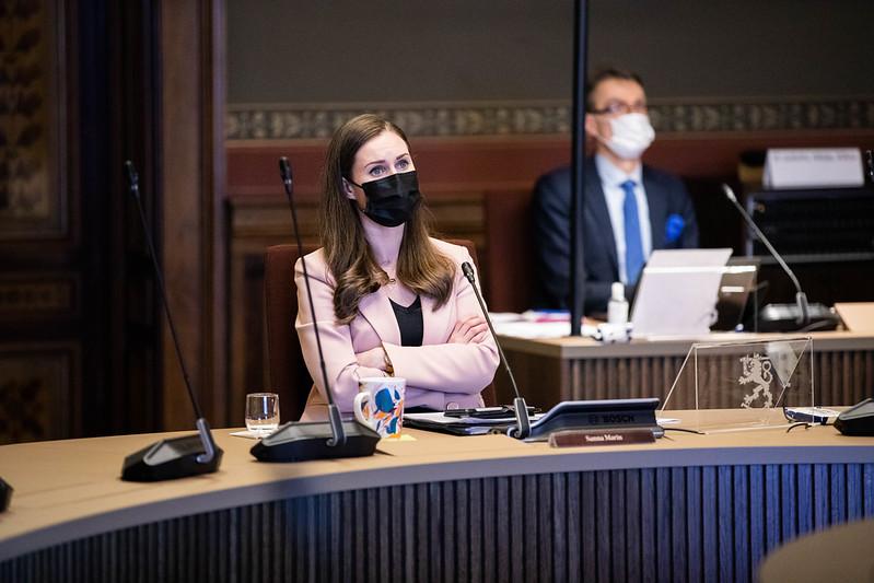 Statsminister Sanna Marin (SDP) vädjar till finländarna: nu är inte tid för stora barnkalas eller hemmafester.