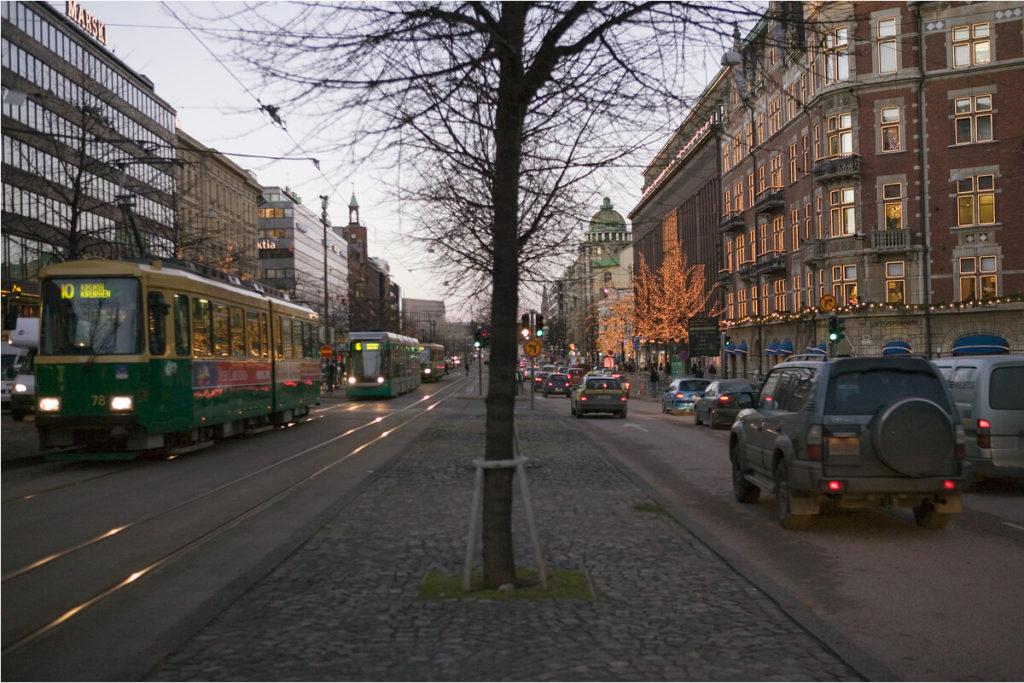 Mannerheimvägen i Helsingfors.