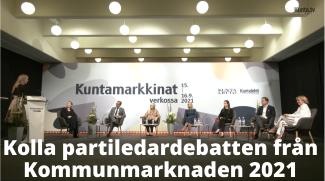 Kolla inspelningen från partiledardebatten på Kommunmarknaden
